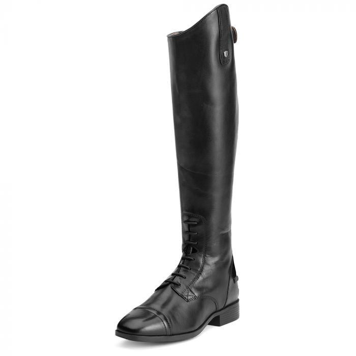 Ariat WMS Challenge Contour Square Toe Field Zip Tall Boots - Black