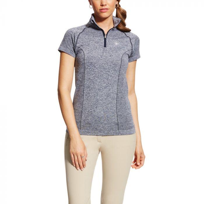 Ariat Ladies Odyssey Seamless 1/4 Zip - Short Sleeve