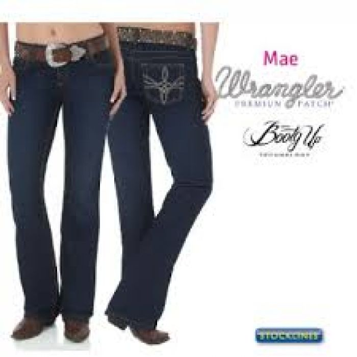 WRANGLER Women's Premium Patch Booty Up - Sits Above the hip - 10MWZHS34