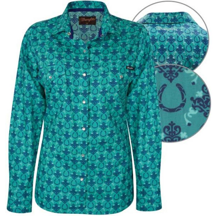 Wrangler Women's Ashlyn Print Long Sleeve Shirt