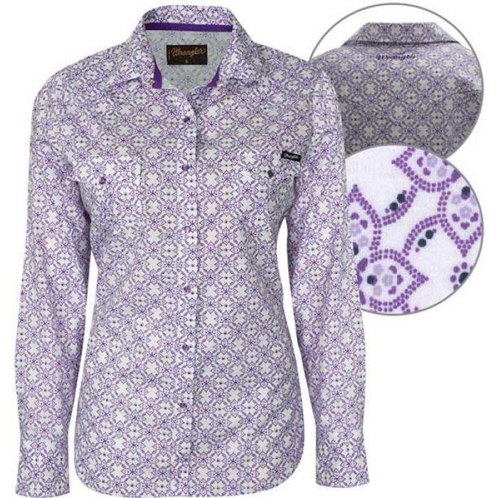 Wrangler Women's Laney Print Long Sleeve Shirt