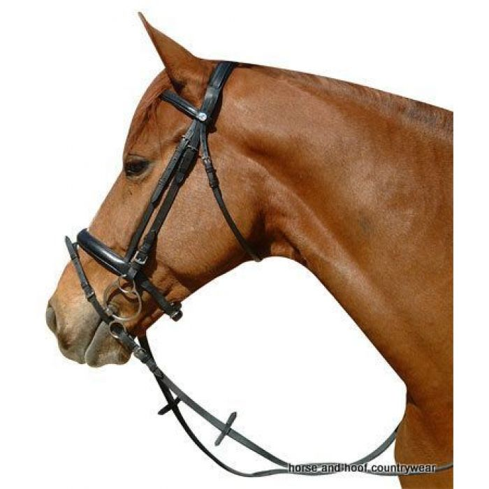 Becker Flash Bridle Top quality German leather bridle padded at the head nose and browband for style and comfort With crew holes to allow the noseband strap to pass over.