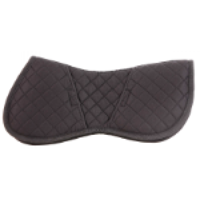 Quilted Half Pad with Inserts - Black