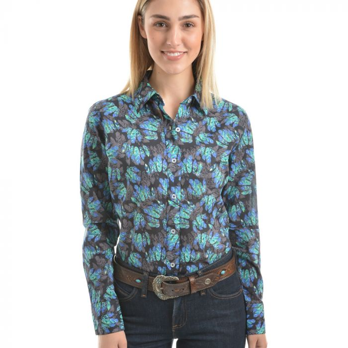Wrangler Women's Juni Print Long Sleeve Shirt