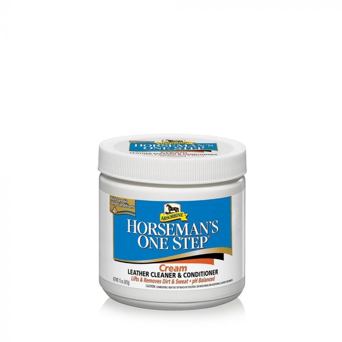 Absorbine Horseman's One Step Leather Cleaner and Conditioner Creme 425g