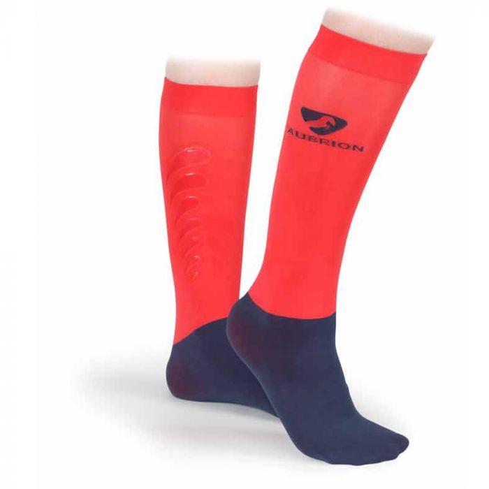 Aubrion Sudbury Performance Socks - Navy / Coral