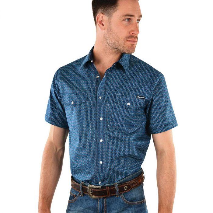 Wrangler Mens Barlow Short Sleeve Shirt