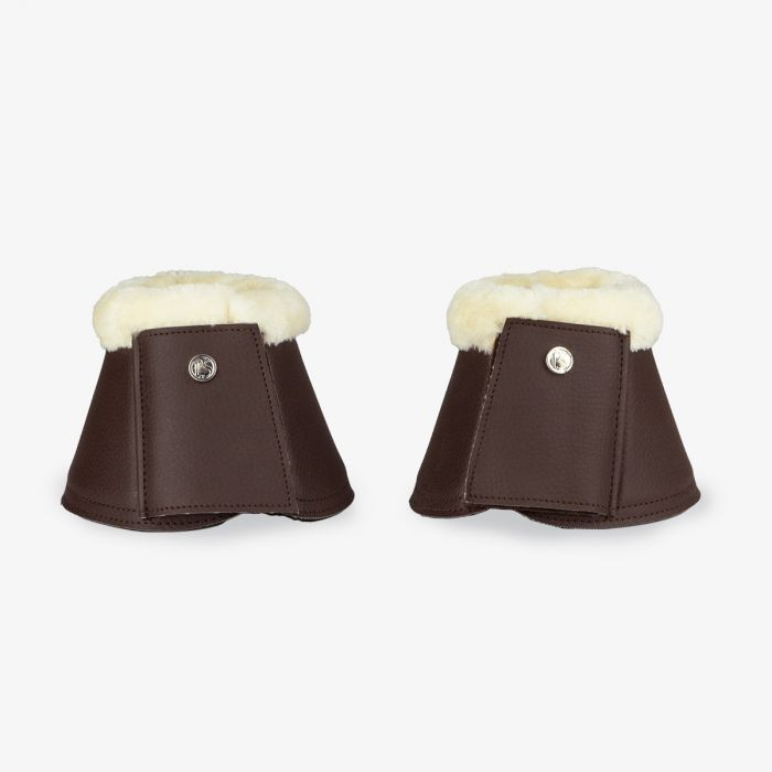 PSOS Monogram Bell Boots - Coffee