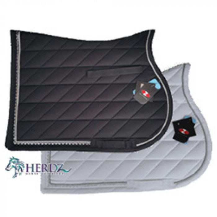 AP Saddle Cloth with Bling Trim - Black or White