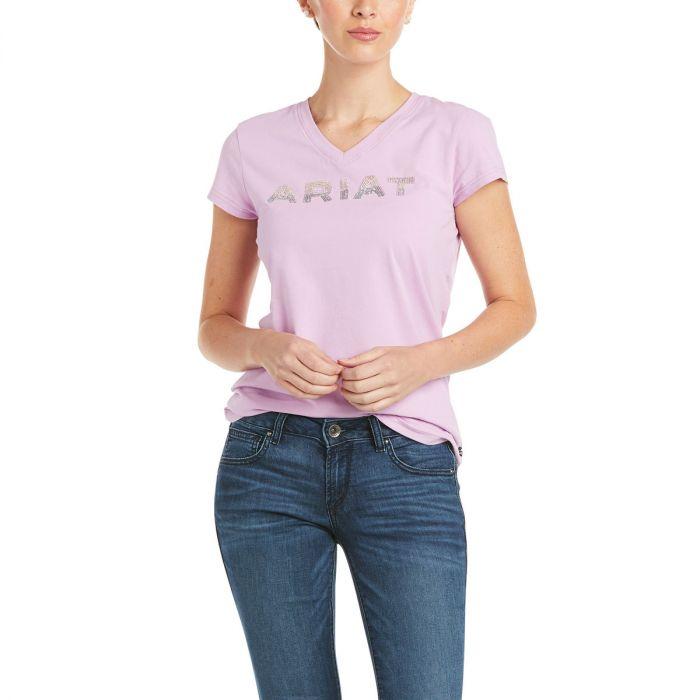 Ariat Bling Logo T-Shirt - Violet Tulle