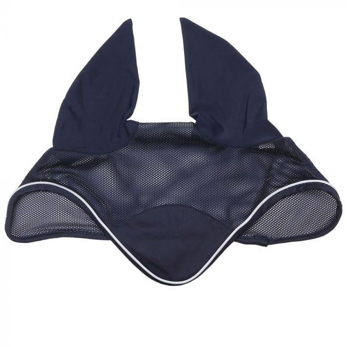 Mesh Ear Bonnet - Navy - Full