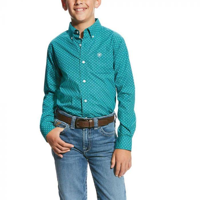 Ariat Boys Vavrick Long Sleeve Print Shirt