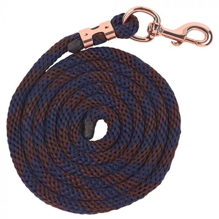Bracelet Braided Lead - Navy/Brown