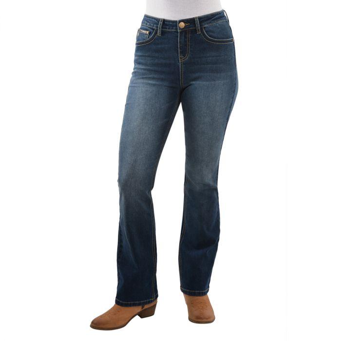 Pure Western Ladies Brady High Waist Boot Cut Jeans
