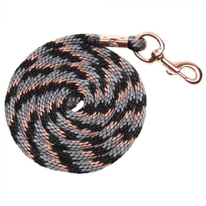 Bracelet Braided Lead - Black/Grey/Rose Gold