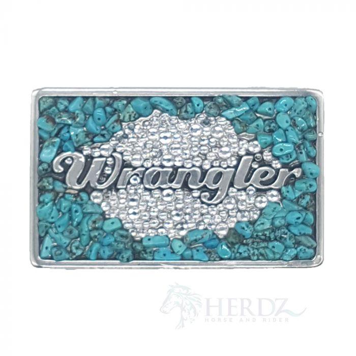 Wrangler Womens Turquoise Cluster Belt Buckle
