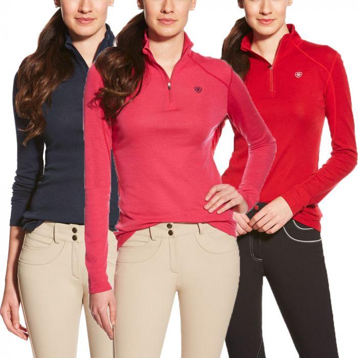 Ariat Womens Cadence 1/4 Zip Wool Pullover