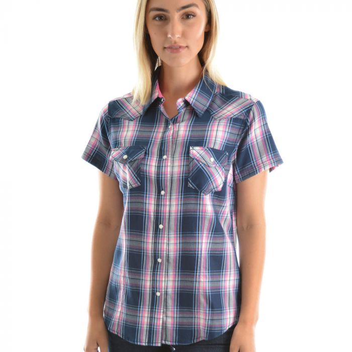Pure Western Ladies Cindy Check Shirt