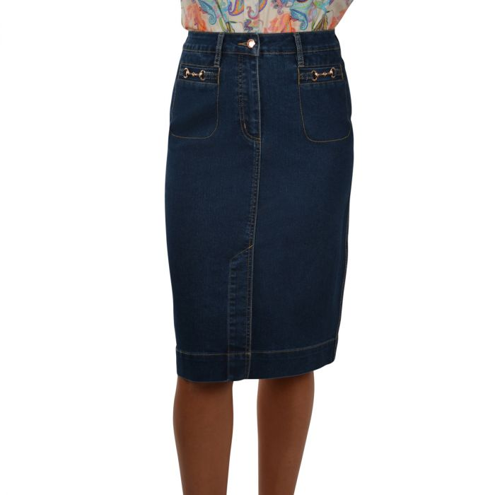 Thomas Cook Womens Crystal Denim Skirt