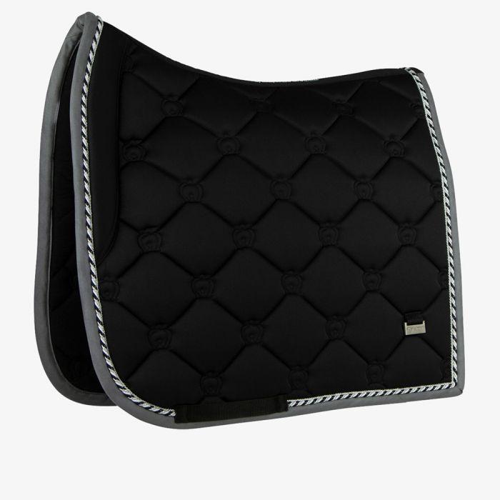 PSOS Monogram Dressage Saddle Pad - Black