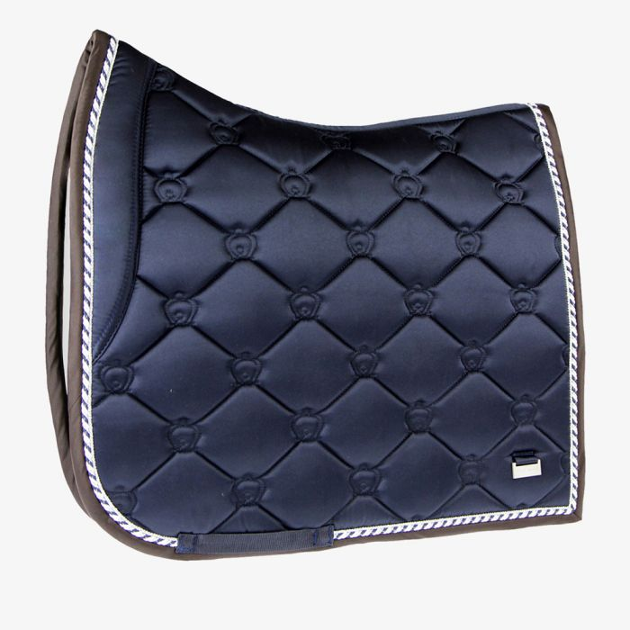 PSOS Monogram Dressage Saddle Pad - Deep Sapphire