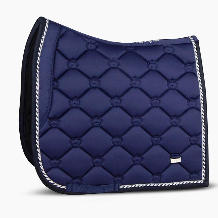 PSOS Monogram Dressage Saddle Pad - Royal Blue - Full