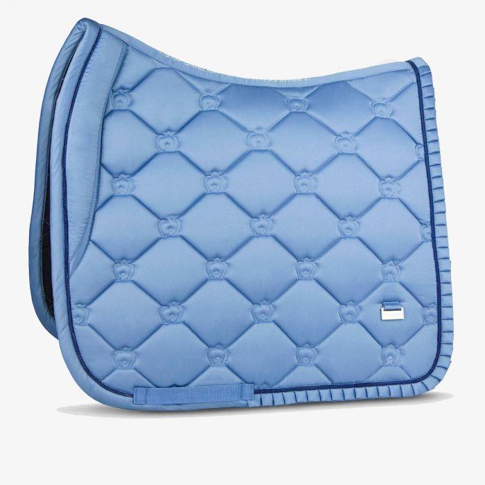 PSOS Ruffle Dressage Pad - Light Blue - Cob