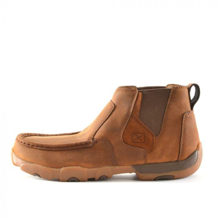 Twisted X Mens Casual Driving Moc High - Oiled Saddle