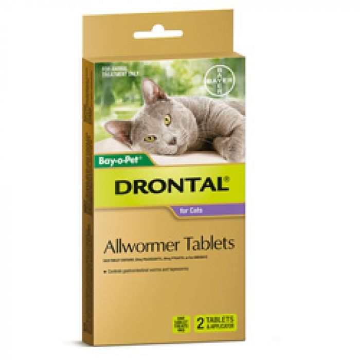 Drontal Tablets Cat 2 Pack with applicator