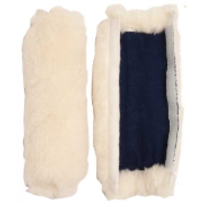 Fleece Cheeks for Bridles - Natural Colour