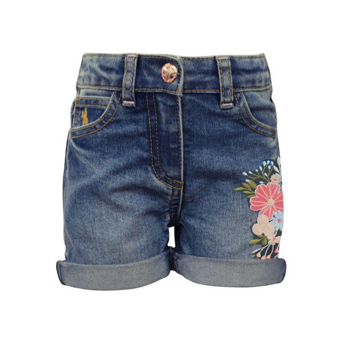 Thomas Cook Girls Embroidered Denim Shorts