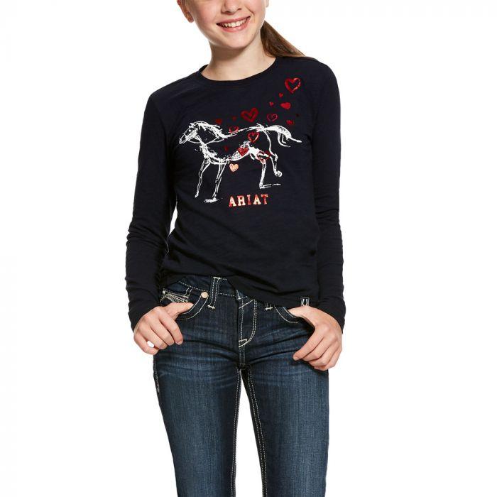 Ariat Girls Pony Love L/S T Shirt