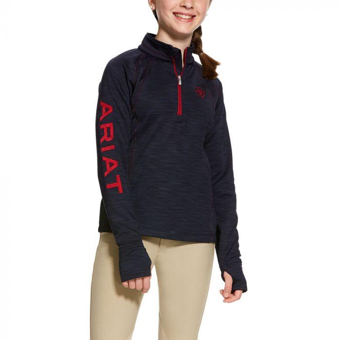 Ariat Girls Tek Team 1/2 Zip Sweatshirt - Navy