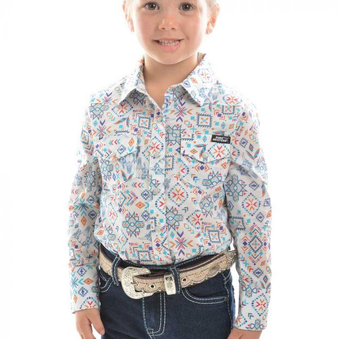 Pure Western Girls Violeta Print Long Sleeve Shirt