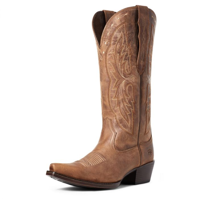 Ariat WMNS Heritage X Toe Elastic Calf - Distressed Brown