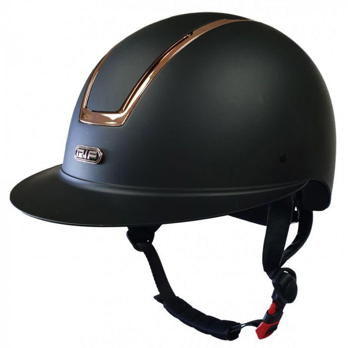 RIF Classic Riding Helmet - Black / Rose Gold