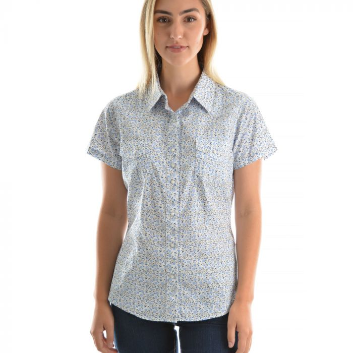 Wrangler Womens Jennifer Print S/S Shirt