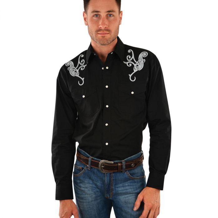 Wrangler Mens Jimmy Embroidered Shirt
