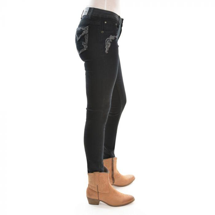 Pure Western Josie Jean - Black Skinny Leg - Side