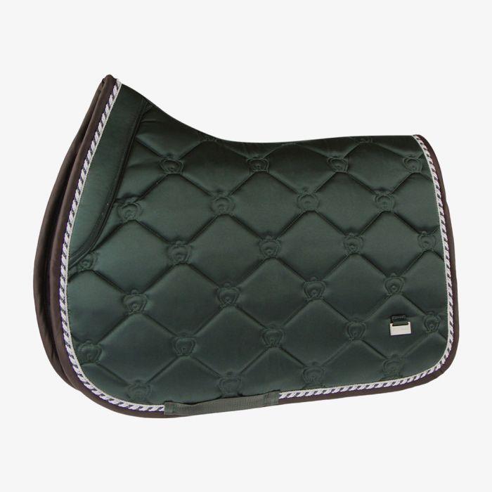 PSOS Monogram Jump Saddle Pad - Emerald - Cob