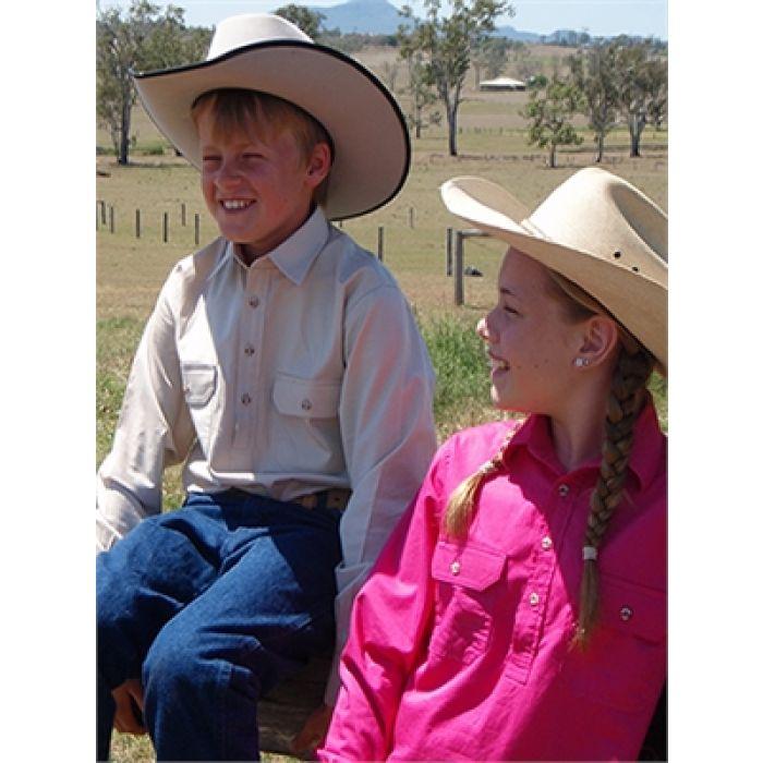 Just Country Kenzie Girls Work Shirt - 1/2 Button