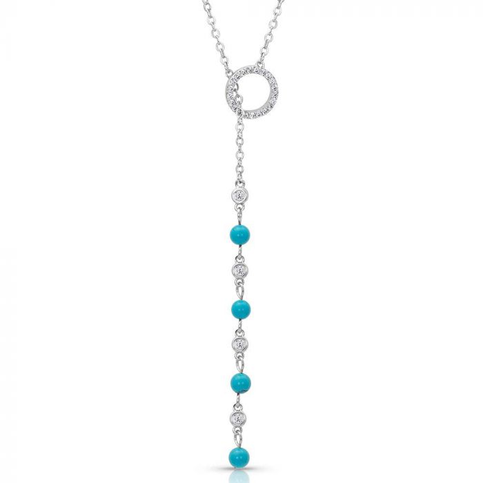Montana Silversmiths Lariat Turquoise Drop Necklace