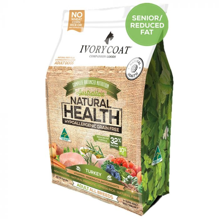 Ivory Coat Reduced Fat/Senior - Turkey Grain Free Adult Dog Food