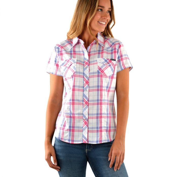 Women's Luna Check Western Short Sleeve Shirt