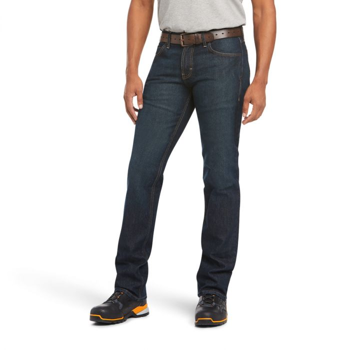 ARIAT Rebar M7 Durastretch Stackable Straight Cut Jeans - Blackstone