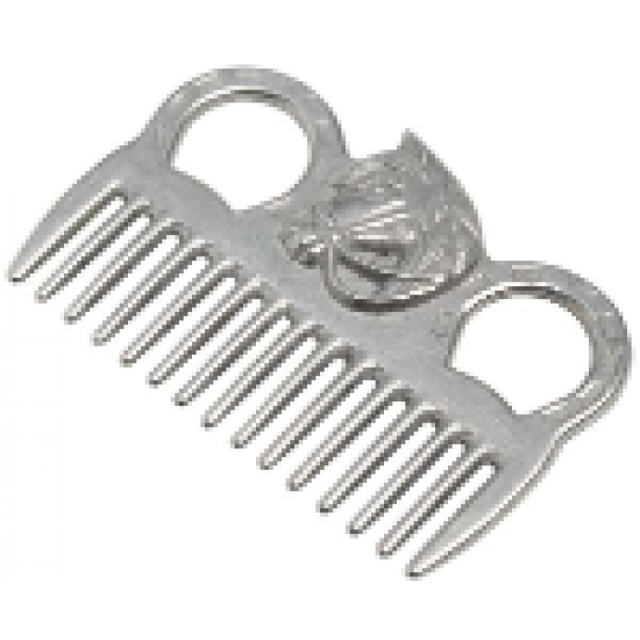 Aluminium Mane Comb - Horse Head