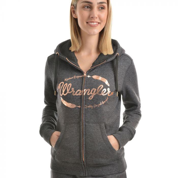 Wrangler Womens Marley Zip Up Hoodie