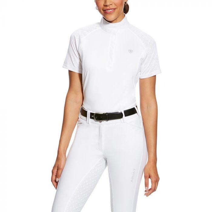 Ariat Marquis Show Shirt - White / Violet