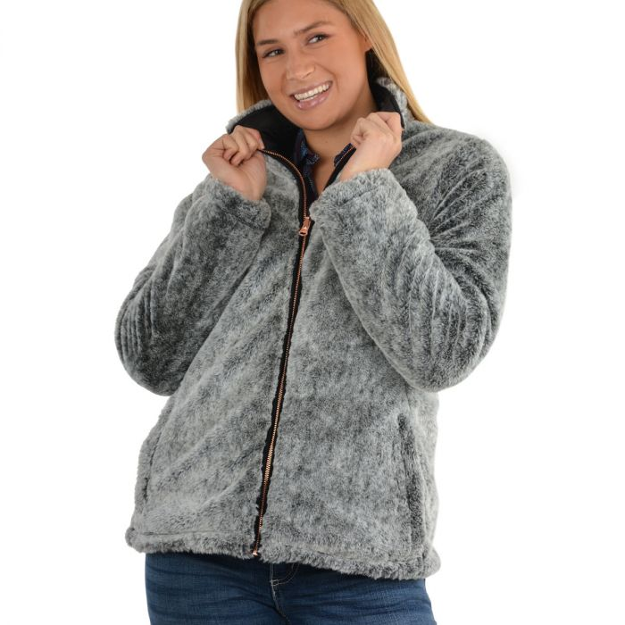 Wrangler Womens Melissa Reversible Jacket - Black / Grey