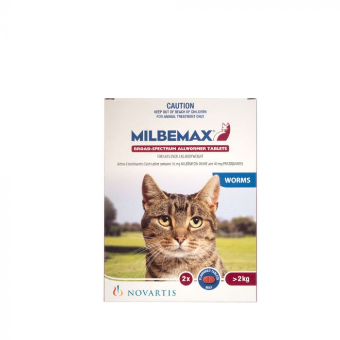 Milbemax Cat Allwormer 2-8KG 2Tablets